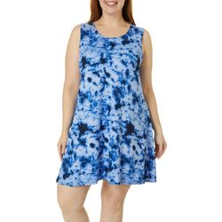 Allison Brittney Plus Tie Dye Yummy Swing Dress