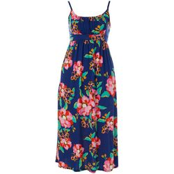 Plus Ruched Floral  Maxi Dress