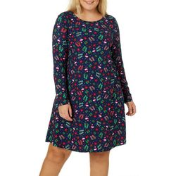 Allison Brittney Plus Florida Christmas Swing Dress
