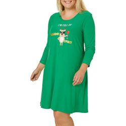 Allison Brittney Plus Holiday Spirit Swing Dress