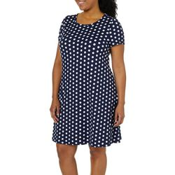 Allison Brittney Plus Dotted T-Shirt Dress