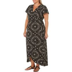 Wrapper Plus Medallion Wrap Maxi Dress