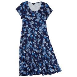 Plus Paisley Casual Dress