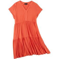 Plus 3 Tier Short Sleeve Dress