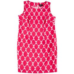 Ronni Nicole Plus Diamond Printed Dress