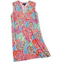 Ronni Nicole RN Studio Plus Paisley Print Sleeveless Dress