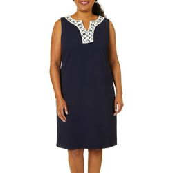 Ronni Nicole Plus Sleeveless Textured Solid Dress