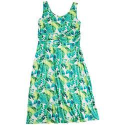 Plus Neon Foliage Maxi Dress