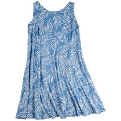 Tiana B Plus Best Feeling Foliage Sun Dress