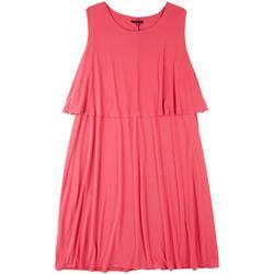 Plus Pink Tiered Midi Dress