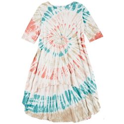 Vasna Womens Plus Tie-Dye High-Low Casual Dress