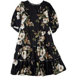 Ava James Plus Tiered Midi Dress