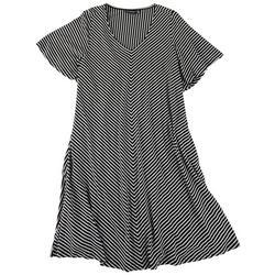 Plus V-Neck Casual Dress