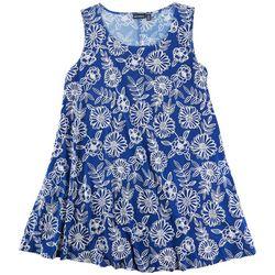 Nina Leonard Plus Floral Dress