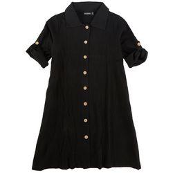 Nina Leonard Plus Button-Down Dress