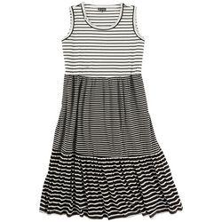 Nina Leonard Plus Maxi Striped Dress