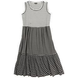 Plus Maxi Striped Dress