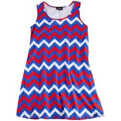 Plus Electric Americana Dress