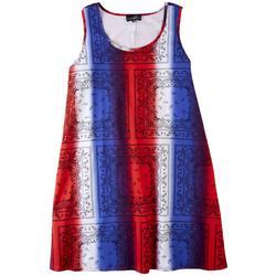 Womens Americana Stripes Dress