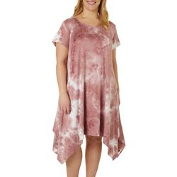 Lexington Avenue Plus Tie Dye Sharkbite Hem Dress