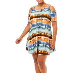 Lexington Avenue Plus Stripe Tie Dye Sundress