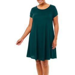 Lexington Avenue Plus Solid Ribbed T-Shirt Dress