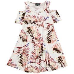Lexington Avenue Plus Leafy Cold Shoulder Dress