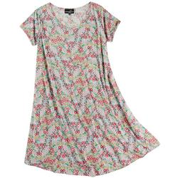 Plus Floral T Shirt Dress