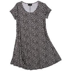 Lexington Avenue Plus Polka Dot T-shirt Dress