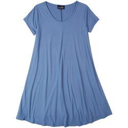 Lexington Avenue Plus Solid Ribbed Dress