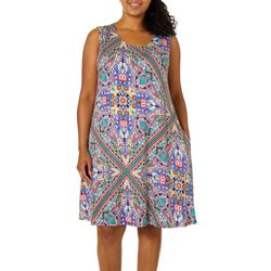 Cupio Plus Paisley Print Sleeveless Sundress