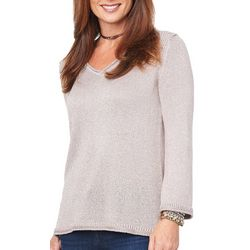 Democracy Womens Shimmery Knit Sweater