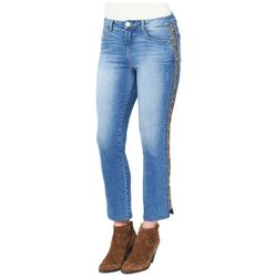 Democracy Womens Slim Fit Cheetah Striped Denim Jeans