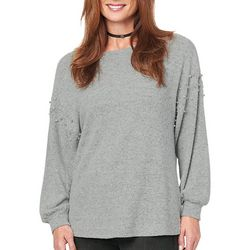 Democracy Womens Embellished Pearl Sweater