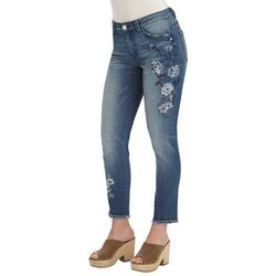 Democracy Womens Embroidered Bird Floral Jeans