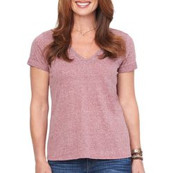 Democracy Womens Heathered Short Sleeve Top