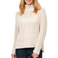 Democracy Womens Lurex Pointelle Sweater