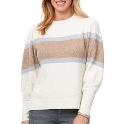 Democracy Womens Stripe Lurex Sweater