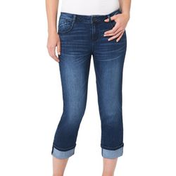 Democracy Womens Whiskered Roll Cuff Jeans