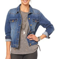 Democracy Womens Faded Denim Jacket