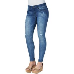 Democracy Womens High Rise Deconstructed Denim Ankle Jeans