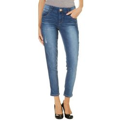 Democracy Womens Ab-solution Faded Ankle Jeans