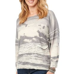 Democracy Womens Mixed Print Knit Dolman Sweater