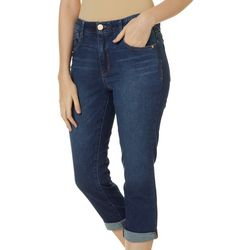 Democracy Womens Ab-solution Solid High Rise Cropped Jeans