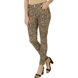 Democracy Womens Ab-solution Leopard Print Jeans