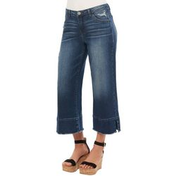 Democracy Womens Denim Wide Leg High Waisted Ankle Jeans