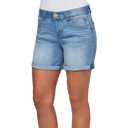 Democracy Womens Roll Cuff Faded Denim Shorts