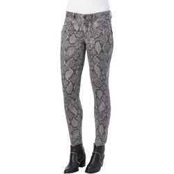 Democracy Womens Ab-solution Snakeskin Print Jeans