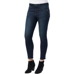 Democracy Womens Luxe Stretch Solid Ankle Jeans