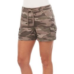 Democracy Womens Camouflage Print Cargo Pocket Shorts